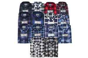 Milton Flannelette Shirt, Closed Front 100% Cotton (Assorted Colors,S - 5XL)