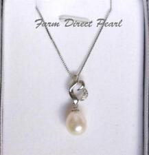 Halsketten und Anhänger aus Sterlingsilber mit echten Liebe & Herzen-Perlen