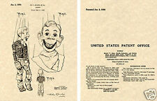 Howdy Doody US Patent Art Print READY TO FRAME! 1950 Allen Puppet Marionette NBC