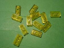 Lego - 12 placas 2x1 transparente amarillo (a 07264)