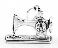 STERLING SILVER SEWING MACHINE CHARM/PENDANT