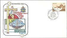 BRESIL enve. PAPE JEAN PAUL II VISITE à Brasilia 1980 POPE JOHN PAUL II Brazil