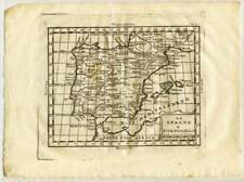 6862- Spagna, 1800 e Portogallo, cartina geografica