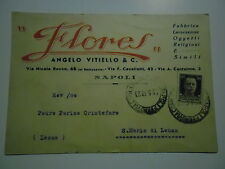 "CARTE POSTALE PRIVATA 1943 ""FLORES"" ANGELO VITIELLO & C. NAPOLI POUR LEUCA"