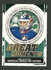 Mike Richter 2011 ITG Great Moments America's World Cup Victory Hockey Card GM10