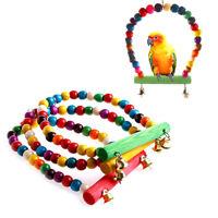 Pet Bird Swing Parrot Parakeet Budgie Cockatiel Cage Hammock Toys Hanging Toy_TI