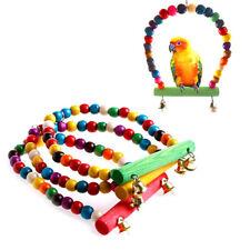 New listing Pet Bird Swing Parrot Parakeet Budgie Cockatiel Cage Hammock Toys Hanging _Wkec