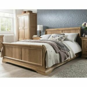 Toulon Solid Oak Bedroom Furniture 4'6 Double Bed