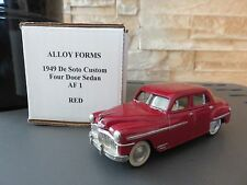 VOITURE MINIATURE ALLOY FORMS 1949 DE SOTO CUSTOM 4 DOOR SEDAN 1/43  ETAT NEUF