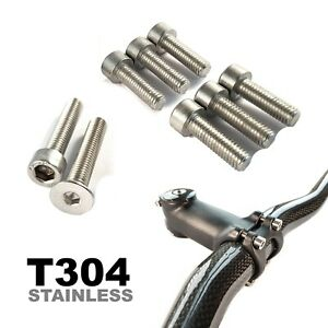 Stainless Steel Top Cap & Stem Bolts Set Waterproof Rust Proof 7 Bolt Set