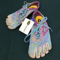 NWT Vibram Fivefingers Purple Gray Blue Womens Fam Running Shoes sz 37