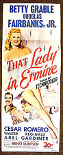 "Betty GRABLE - Douglas FAIRBANKS Jr. - 1948 rare poster -- ""THAT LADY IN ERMINE"""