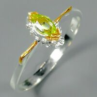 Peridot Ring 925 Sterling Silver Size 8.5 /RT19-0285