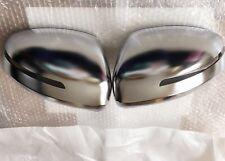 Audi TT Mk2 8J 2007-14 Aluminium Effet Matt Chrome Wing Mirror Covers-OEM Fit