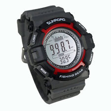Digital 3ATM Waterproof Outdoor Fishing Barometer Altimeter Thermometer Watch
