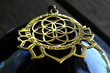 Seed of Life Pendant Sacred Geometry Lotus