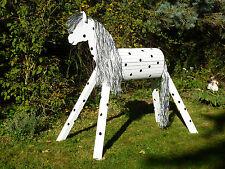 120cm Holzpferd Holzpony Onkel Voltigierpferd  Pferd wetterfest lasiert NEU