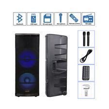 "STARAUDIO Professional Dual 15"" 5000W PA DJ Powered Active Bluetooth Speaker"