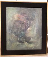 KARNIG NALBANDIAN Oil On Canvas Abstract  Painting 1952 Signed Mid Century