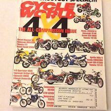 Cycle World Magazine 4x4 Comparison Issue Ducati Monster June 2001 061717nonrh
