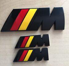// M Sport Drapeau Allemand M Power Metal Set (2x Ailes +1 x badge coffre) BMW Qualité