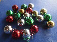 vintage MINIATURE christmas feather tree balls ornaments dollhouse - set lot 20