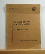 Manganese Deposits of Western Arizona 1958 Farnham SIGNED Mining Mines Maps