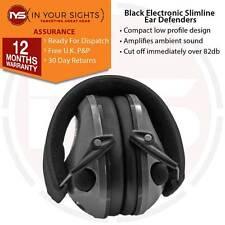 nero slimline ELETTRONICO DA TIRO protezione orecchie/PIATTELLO CACCIA cuffie
