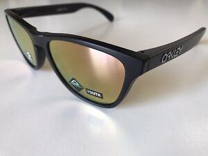 NEW Oakley Frogskins Black MATT w PRIZM COPPER Mirror Iridium Sunglass 9013-1753