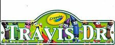 Crayola Street Sign Personalized TRAVIS DR Kids Room Sign Stocking Stuffer