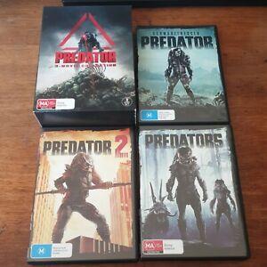 Predator 3 Movie Collection DVD R4 Like New  FREE POST