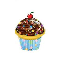 Party Supplies Birthday Chocolate Frosted Cupcake Shape Foil Balloon