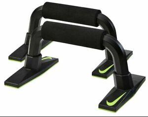 Nike Unisex Training Push Up Grips Home Workout Gym, Black/Volt, NEW