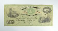 1873 $1.00 EARLY State of South Carolina Bank Note - Obsolete US Crisp *962