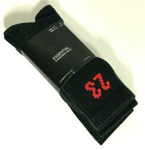 AIR JORDAN ESSENTIAL CUSHIONED CREW 3 PK - BLACK/RED - MENs 6-8 - 100% AUTHENTIC