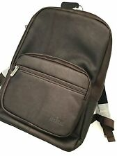 Kenneth Cole Reaction Brown Leather Ahead Of The Pack Laptop Tablet Backpack NWT