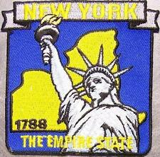 Embroidered USA State Patch New York NEW montage