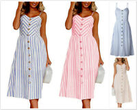 AU SELLER Cotton 50'S Vintage Rockabilly Retro Swing Pinup Stripes Dress dr194