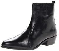 Stacy Adams Men's Santos Plain-Toe Black Leather Side Zipper Boot Size 10.5 M