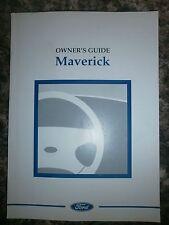 *NEW* FORD MAVERICK HANDBOOK MANUAL 1996 - 1999