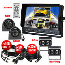 """10.1"""" Quad Monitor + 4x CCD Camera Front/Reversing/Right/Left View For Truck Bus"""