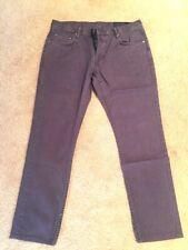 """All Saints Gray """"Pistol Fit"""" Jeans Size 32"""