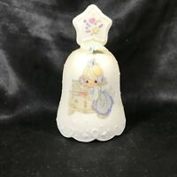 PRECIOUS MOMENTS Mother Christmas Porcelain Collectors Bell