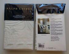 SET of 2 Ralph Lauren ISLESBORO Standard Pillow Shams Hillsboro Embroidery Ivory