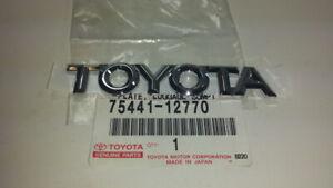 """Genuine OEM Toyota 75441-12770 Rear """"TOYOTA"""" Nameplate Badge 1998-2002 Corolla"""