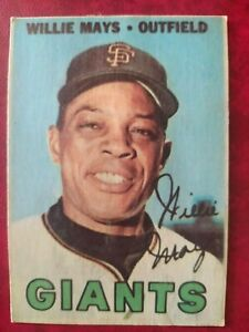 Willie Mays 1967 Topps Venezuela #213 Very Rare Venezuelan card *Set Break