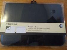 "Official MOLESKINE 15"" LAPTOP SLEEVE for APPLE MACBOOK AIR / PRO - Black"