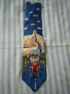 New Tie Rack Looney Tunes Taz Tie  - 100% Silk