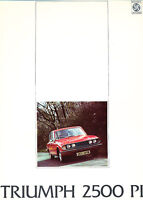 Triumph 2500 PI 12-page Original Car Sales Brochure Catalog - 1974 1975