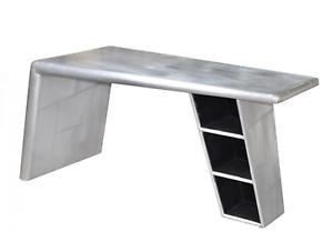 "60"" Large Desk firm aluminum Aviator spectacular handmade contemporary modern"